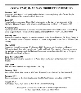 Production history of Fetch Clay, Make Man