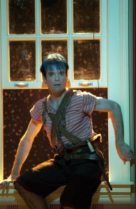 Jefferson Mays as Peter Pan at Centerstage