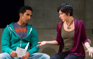 Armando Batista and Amia Desanti in Water BY The Spoonful at Arden Theatre Company