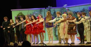 Curtain Call for Little Shop of Horrors at Jonathan Law High School