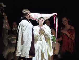 Danny Schaffer and Eric Rooney at the wedding of Sir Lancelot and Prince Herbert at Shenandoah Valley High School's Spamalot
