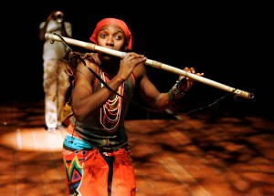 Mhlekazi Andy Mosiea as Tamino in Isango Ensemble's The Magic Flute (Keith Pattison photo)