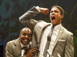 K. Todd Freeman and Ray Fisher in Fetch Clay, Make Man at New York Theatre Workshop