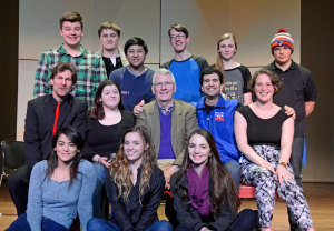 The team behind Almost, Maine in Hickory NC, including playwright John Cariani
