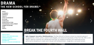 New School for Drama home page