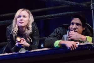 Kelly O'Sullivan and Jerry MacKinnon in This Is Modern Art at Steppenwolf Theatre