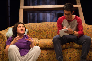 Maria Jan Carreon and Gideon Bautista in Edith Can Shoot Things and Hit Them at Company One Theatre