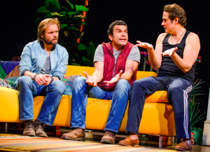 Alec Newman, Ricardo Chavira & Yul Vázquez in The Motherfucker With The Hat at the National Theatre