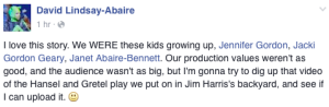 David Lindsay Abaire Facebook post re Shrek