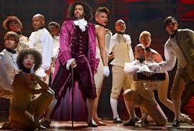 Daveed Diggs and the company in Hamilton (Photo by Joan Marcus)