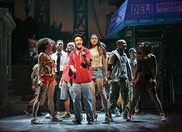 Lin-Manuel Miranda, Karen Olivo and the company of In The Heights (Photo by Joan Marcus)