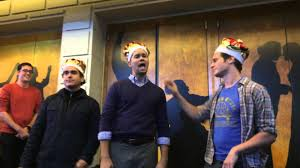Brian D'Arcy James, Andrew Rannells and Jonathan Groff perform at Ham4Ham