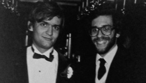 With my friend John Marshall (l.) at an annual DP dinner circa 1982