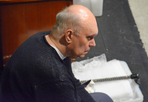 Alan Ayckbourn in rehearsal at 59E59 Theaters