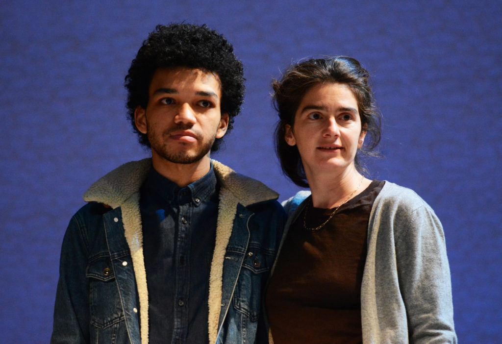 Justice Smith and Gaby Hoffman